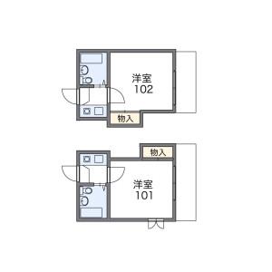 1K Apartment in Umezato - Suginami-ku Floorplan