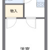 1K Apartment to Rent in Warabi-shi Floorplan