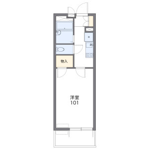 1K Apartment in Nishikicho - Warabi-shi Floorplan