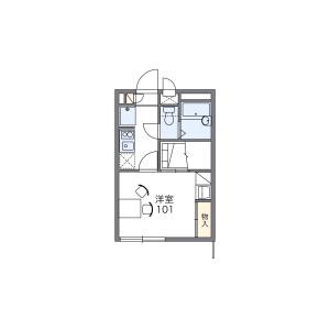 1K Apartment in Shimodacho - Yokohama-shi Kohoku-ku Floorplan