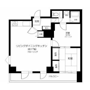 新宿区 西早稲田(その他) 2LDK マンション 間取り
