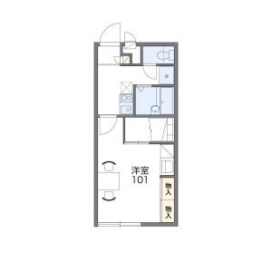 府中市新町-1K公寓 房間格局