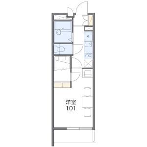 1K Mansion in Harada - Fukuoka-shi Higashi-ku Floorplan