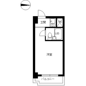 1R Mansion in Funamachi - Shinjuku-ku Floorplan