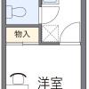 1K Apartment to Rent in Nishitokyo-shi Floorplan
