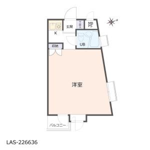 1K {building type} in Okusawa - Setagaya-ku Floorplan