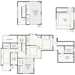 3SLDK House in Kitashirakawa yamadacho - Kyoto-shi Sakyo-ku Floorplan