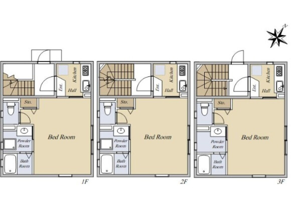 Whole Building Apartment to Buy in Minato-ku Floorplan