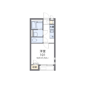 1K Apartment in Ichigayadaimachi - Shinjuku-ku Floorplan