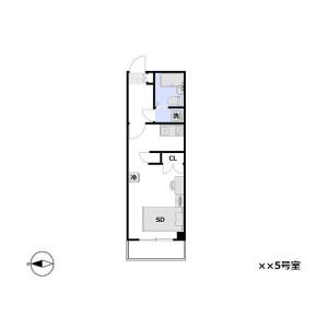 1R Mansion in Higashikasai - Edogawa-ku Floorplan