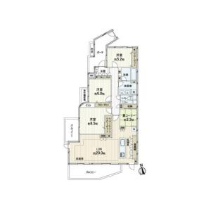 3LDK {building type} in Hamadayama - Suginami-ku Floorplan