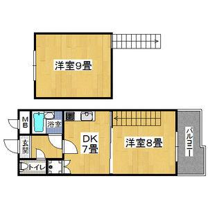 1DK Mansion in Imagawa - Osaka-shi Higashisumiyoshi-ku Floorplan