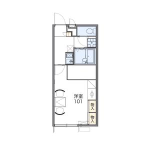 1K Apartment in Yoshida - Yamaguchi-shi Floorplan