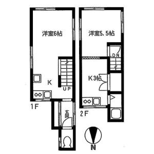 2K House in Koenjikita - Suginami-ku Floorplan