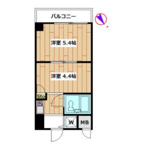 1DK Apartment in Higashiyama - Meguro-ku Floorplan