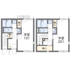 1K Apartment in Nanakuni - Hachioji-shi Floorplan