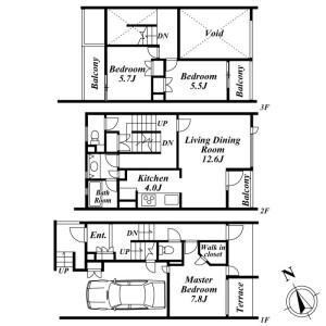 3LDK Mansion in Mukogaoka - Bunkyo-ku Floorplan