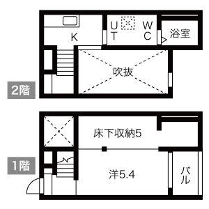1K Apartment in Arako - Nagoya-shi Nakagawa-ku Floorplan
