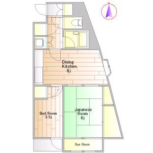 2DK Mansion in Komazawa - Setagaya-ku Floorplan