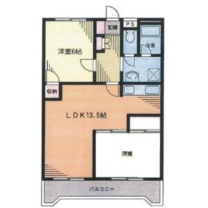 2LDK Mansion in Miyamaedaira - Kawasaki-shi Miyamae-ku Floorplan