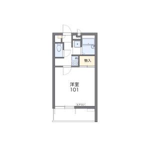 1K Apartment in Honcho - Nakano-ku Floorplan