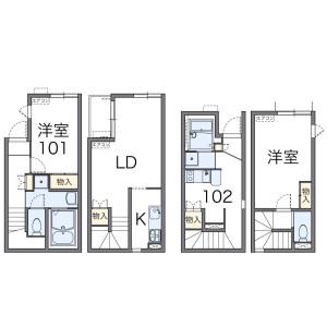 1K Apartment in Kamikitazawa - Setagaya-ku Floorplan