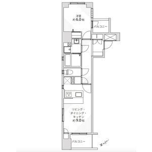1LDK {building type} in Minamioi - Shinagawa-ku Floorplan