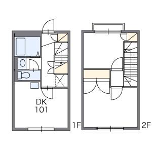 2DK Apartment in Haijimacho - Akishima-shi Floorplan