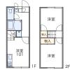 2DK Apartment to Rent in Tochigi-shi Floorplan
