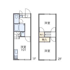 2DK Apartment in Fujiokamachi fujioka - Tochigi-shi Floorplan