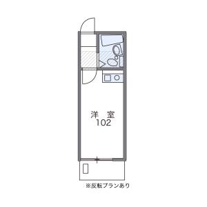 1K Apartment in Omorihigashi - Ota-ku Floorplan
