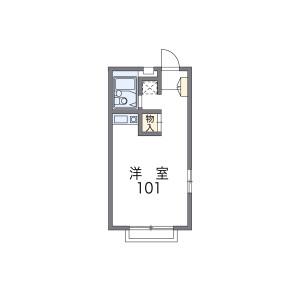 1K Apartment in Inabaso - Amagasaki-shi Floorplan