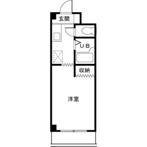 1K Mansion in Nogayamachi - Machida-shi Floorplan