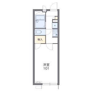 1K 아파트 in Tokiwamachi - Machida-shi Floorplan