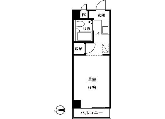 1K Apartment to Rent in Machida-shi Floorplan