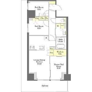 3LDK Mansion in Egota - Nakano-ku Floorplan