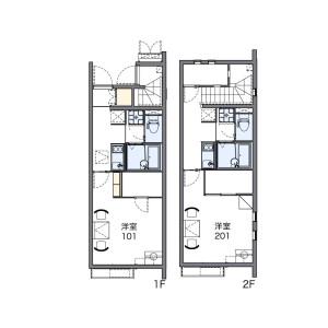 1K 아파트 in Toshima - Kita-ku Floorplan