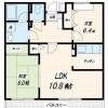 2LDK Apartment to Rent in Katsushika-ku Floorplan