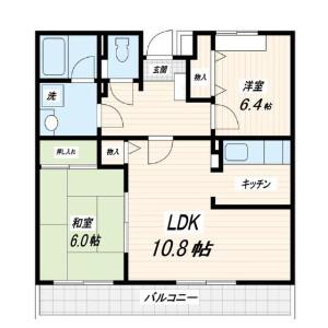 2LDK Mansion in Higashitateishi - Katsushika-ku Floorplan