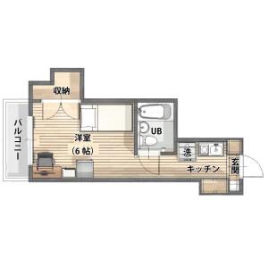 1K Mansion in Shinsugitacho - Yokohama-shi Isogo-ku Floorplan