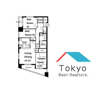 3LDK Mansion in Nihombashiodemmacho - Chuo-ku Floorplan