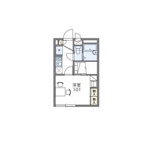 1K 아파트 in Asahi - Kawaguchi-shi Floorplan