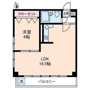 中野区中央-1LDK公寓大厦 楼层布局