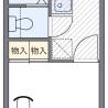 在富里市内租赁1K 公寓大厦 的 楼层布局