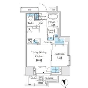 1LDK Mansion in Nishiasakusa - Taito-ku Floorplan