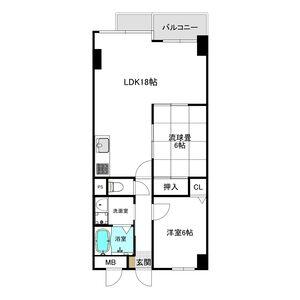 2LDK Mansion in Shichijogoshonochi kitamachi - Kyoto-shi Shimogyo-ku Floorplan