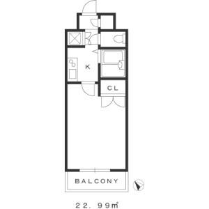 1K Mansion in Kandasudacho - Chiyoda-ku Floorplan