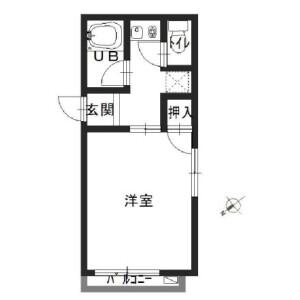 1R Mansion in Kaigan(1.2-chome) - Minato-ku Floorplan