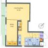 1LDK Apartment to Buy in Setagaya-ku Floorplan