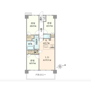 3LDK {building type} in Kamitsurumahoncho - Sagamihara-shi Minami-ku Floorplan